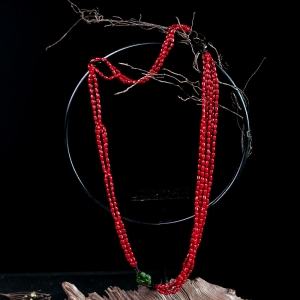 沙丁珊瑚毛衣鏈
