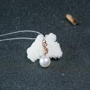 18K海水白色珍珠吊坠
