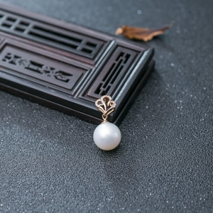 18K海水白色珍珠吊墜