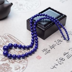 深蓝色青金石塔链