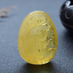 雞油黃金絞蜜連年有余吊墜