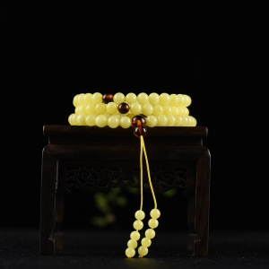 7mm白花蜜蜜蜡多圈手串