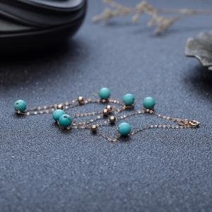 18K中瓷蓝绿绿松石项链