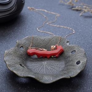 18K阿卡牛血红珊瑚项链