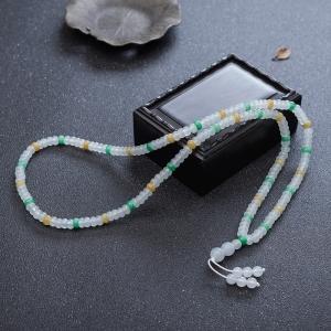5.5mm糯冰种翡翠项链