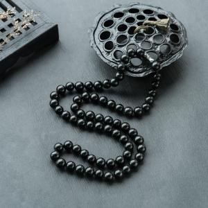 9mm糯种墨翠项链