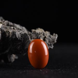 柿子红南红随形配件