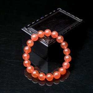 10.5mm冰红南红单圈手串