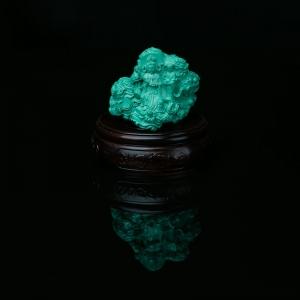 高瓷绿色绿松石观音摆件