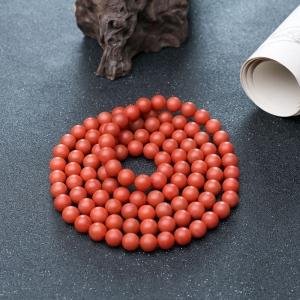 柿子紅南紅108佛珠