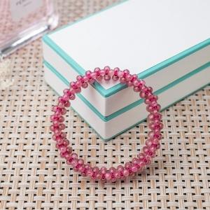 3mm粉紅碧璽編織手串