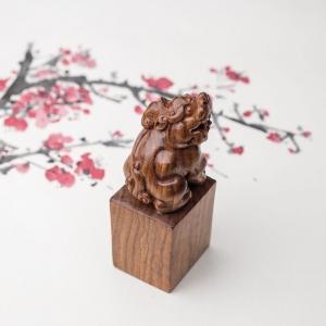 海南黄花梨貔貅印章