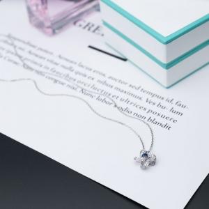18K蓝紫色蓝宝石项链