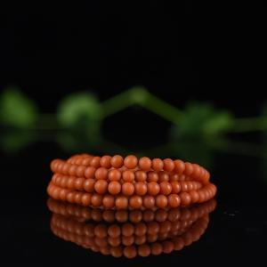 5mm柿子紅南紅多圈手串