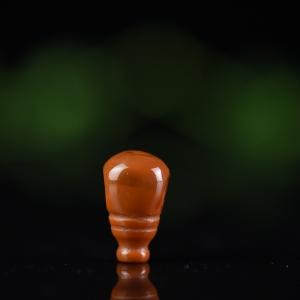 柿子红南红三通配件