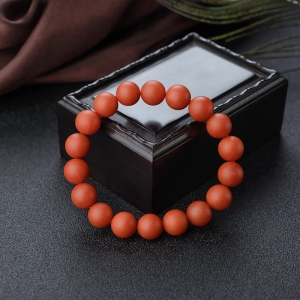 10.5mm柿子红南红单圈手串