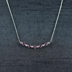 18K红宝石项链