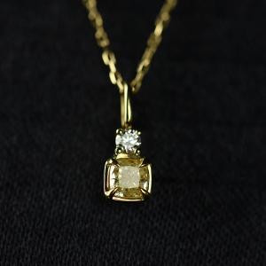 18K黄钻项链