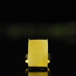 银镶金绞蜜蜜蜡戒指