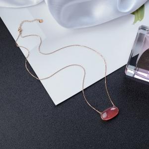 18K红纹石项链
