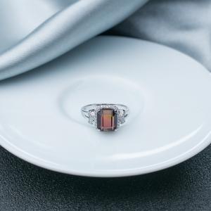 18K雙色碧璽戒指