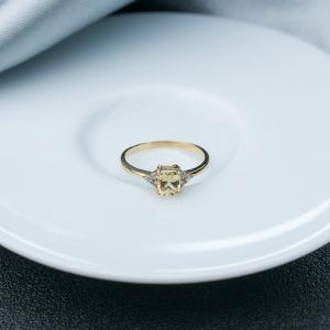18K黄色蓝宝石戒指