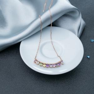 18K蓝宝石项链
