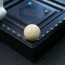 19.5mm象牙白白蜜圆珠