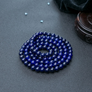 7mm深藍色青金石108佛珠