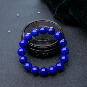 13.5mm天藍色青金石單圈手串