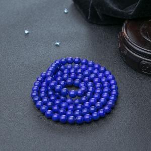 6.5mm天藍色青金石108佛珠