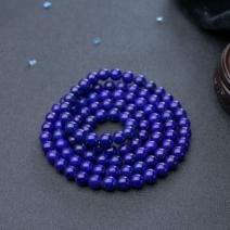 8mm紫蓝色青金石108佛珠