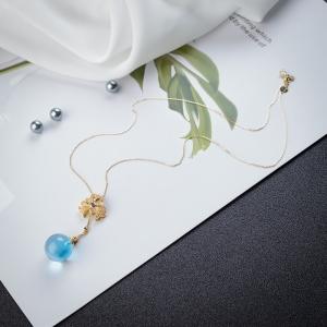 18K瑞士蓝托帕石项链