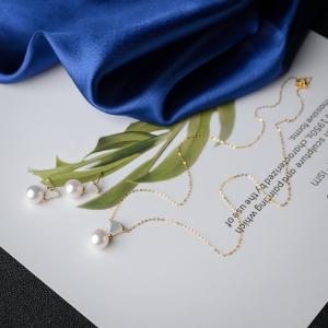18K海水白色珍珠套装