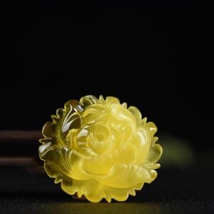 金绞蜜蜜蜡花开富贵吊坠