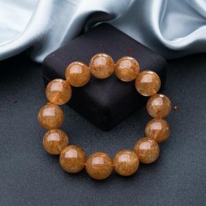 16.5mm銅發晶單圈手串