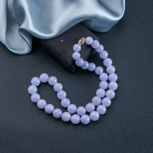糯种紫罗兰翡翠塔链