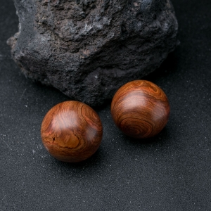 海南黄花梨保健球(两件)