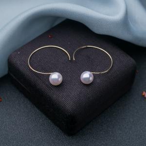 18K海水白色珍珠耳环