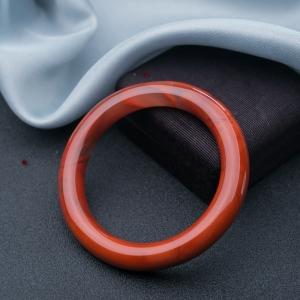 56.5mm柿子红南红圆镯