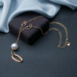 18K海水白色珍珠项链