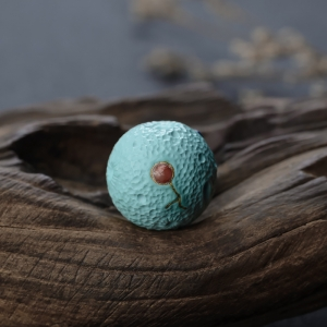中高瓷蓝绿绿松石苹果珠