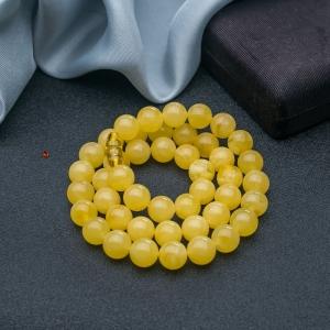 11mm雞油黃蜜蠟項鏈