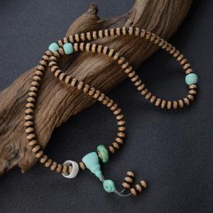 中瓷蓝绿绿松石DIY108佛珠