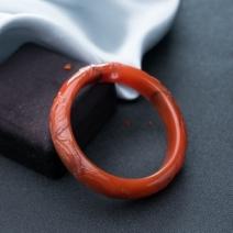 59.5mm樱桃红南红龙凤呈祥平安镯