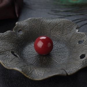 17mm阿卡牛血红珊瑚圆珠