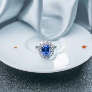 18K藍色藍寶石戒指/吊墜兩用款