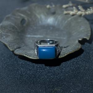 18K天空蓝多米蓝珀戒指