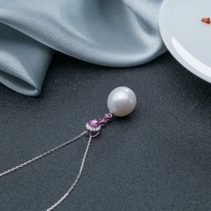 18K粉色蓝宝石吊坠