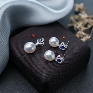 18K海水白色珍珠套装(两件)